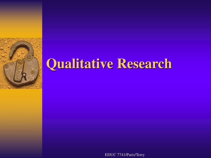 Qualitative research l.jpg