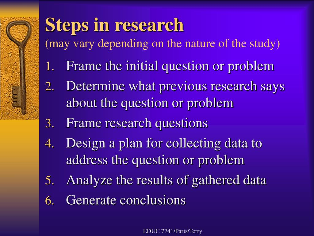 Steps in research