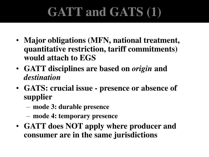 GATT and GATS (1)