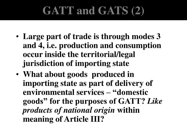 GATT and GATS (2)
