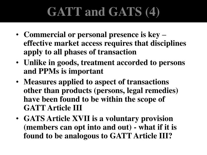 GATT and GATS (4)