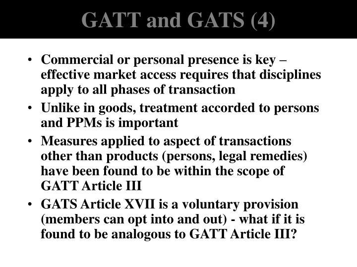 GATT and GATS (4)