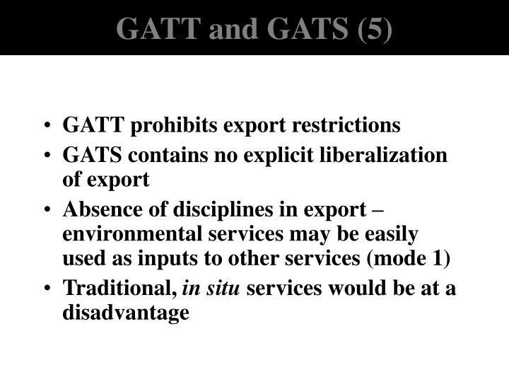 GATT and GATS (5)