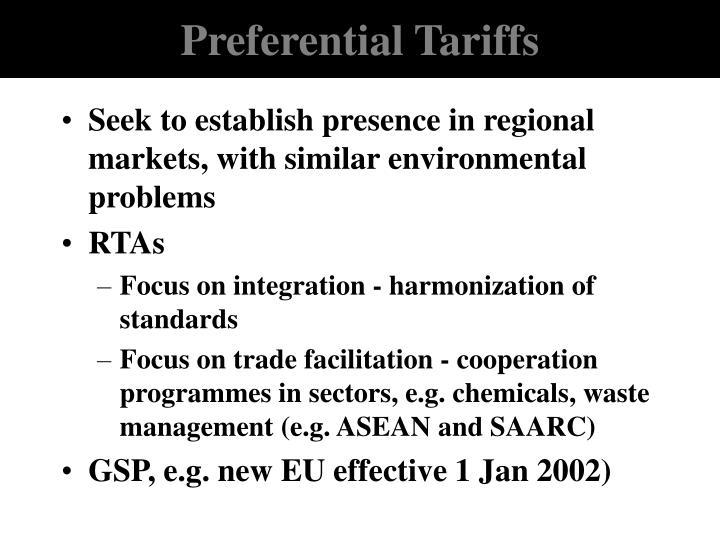 Preferential Tariffs