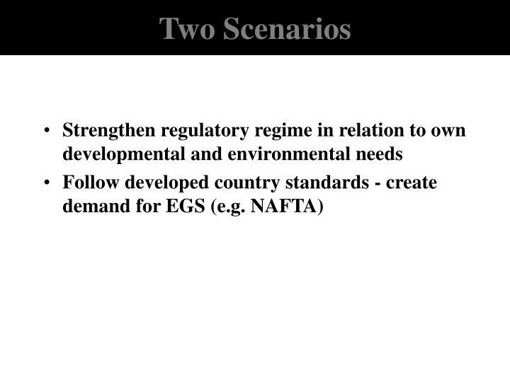 Two Scenarios