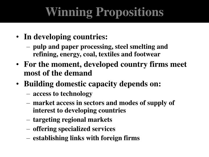 Winning Propositions