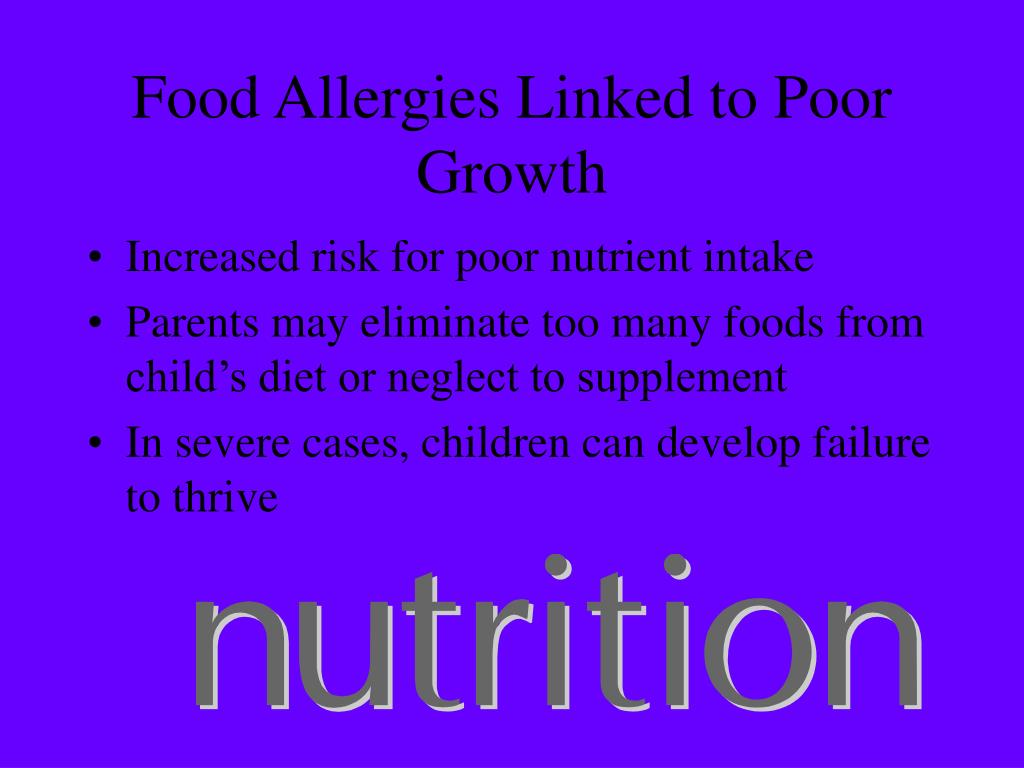 Food Allergies Linked to Poor Growth