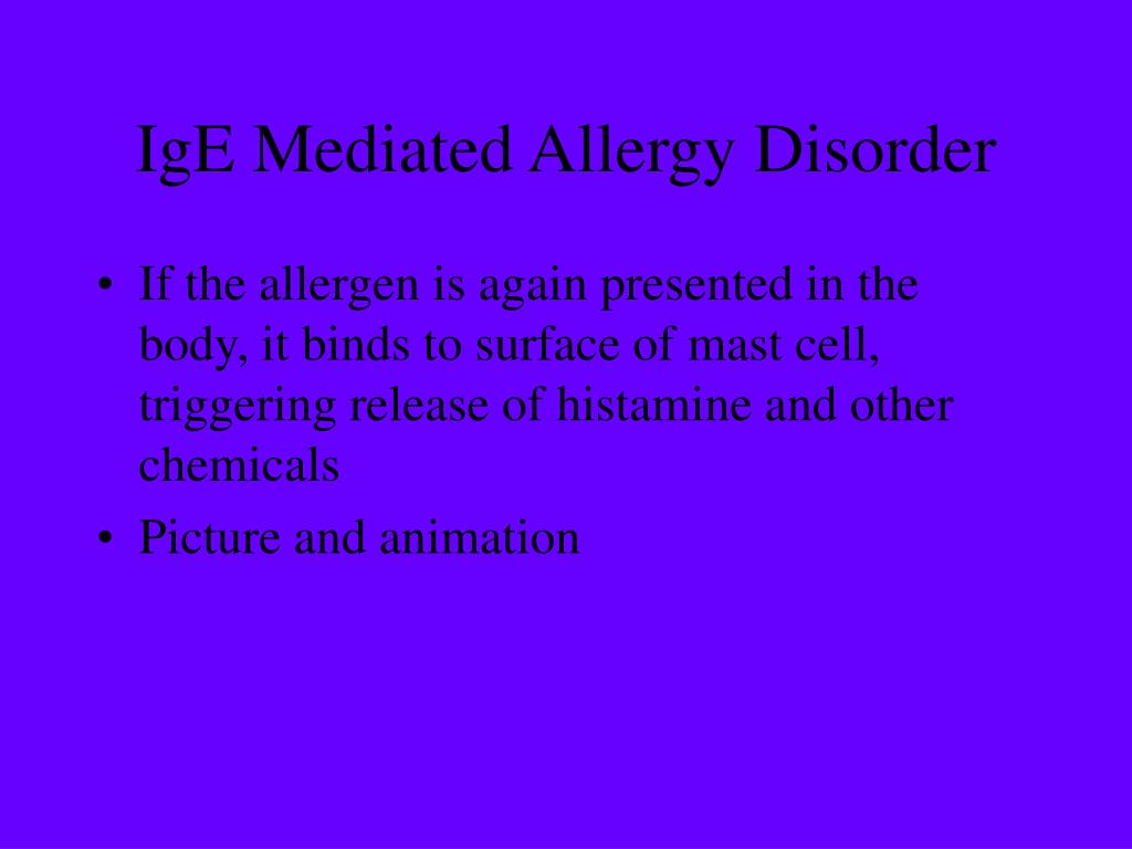 IgE Mediated Allergy Disorder