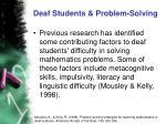 deaf students problem solving