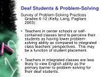 deaf students problem solving5