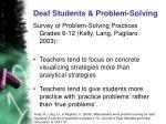 deaf students problem solving6