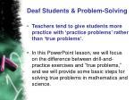 deaf students problem solving7