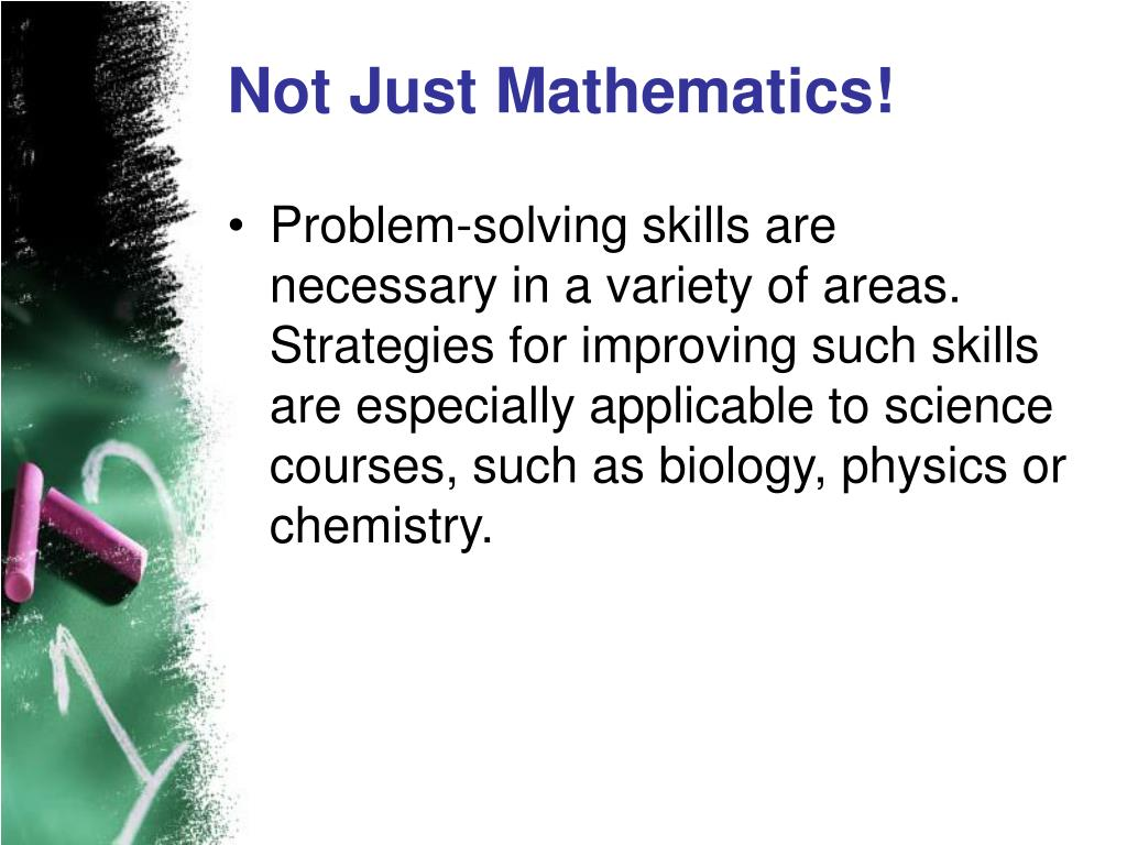 Not Just Mathematics!