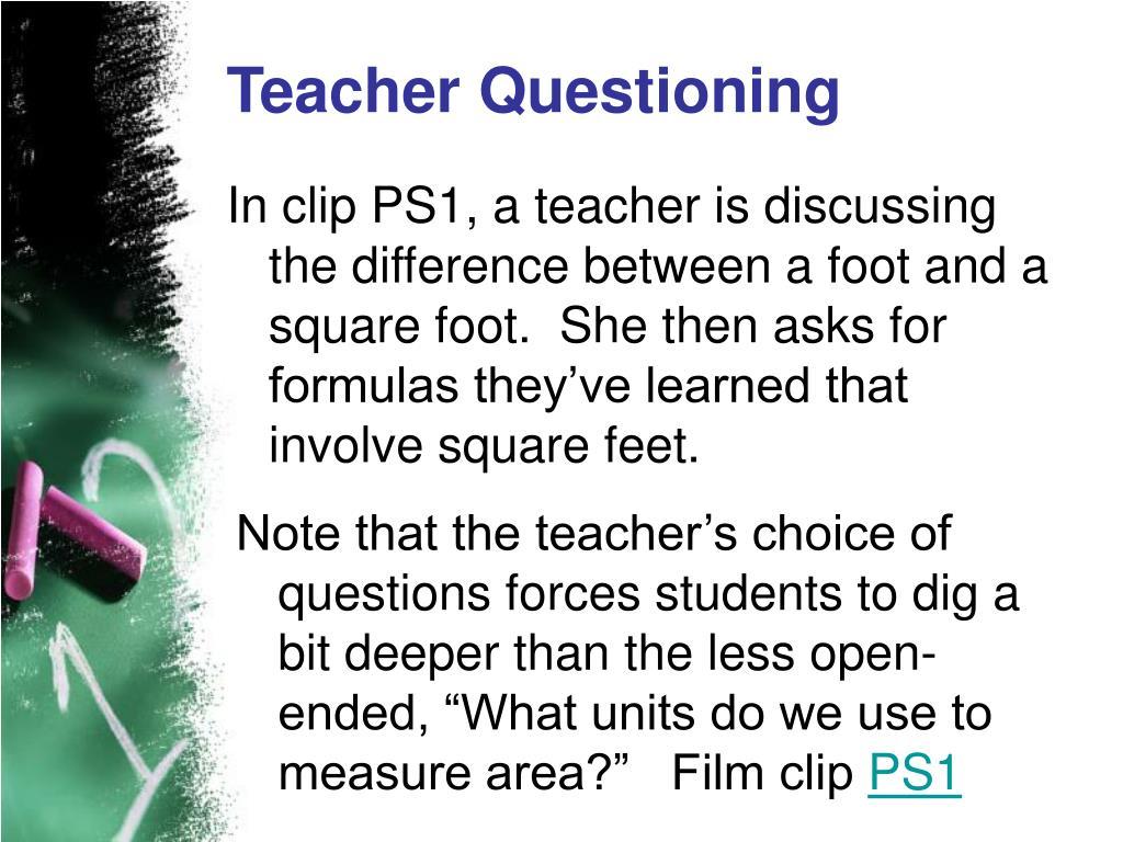 Teacher Questioning