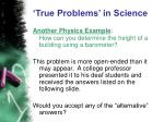 true problems in science24