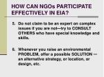 how can ngos participate effectively in eia22