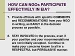 how can ngos participate effectively in eia23