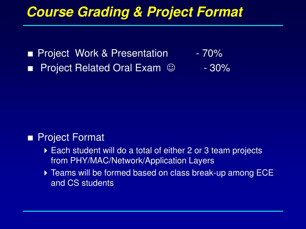 Course Grading & Project Format