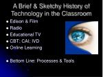 a brief sketchy history of technology in the classroom