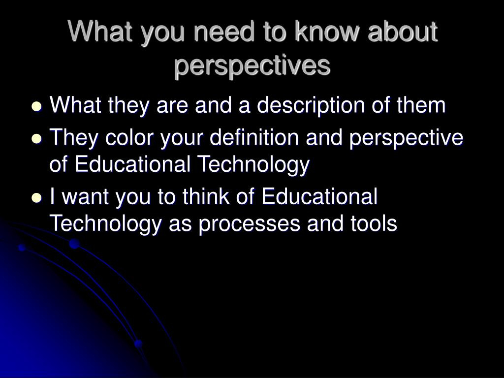 What you need to know about perspectives