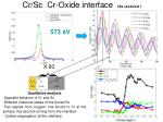 cr sc cr oxide interface as received