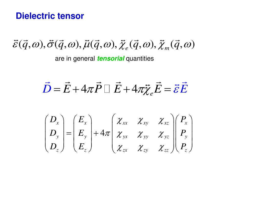 Dielectric tensor