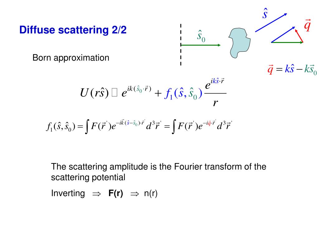 Diffuse scattering 2/2