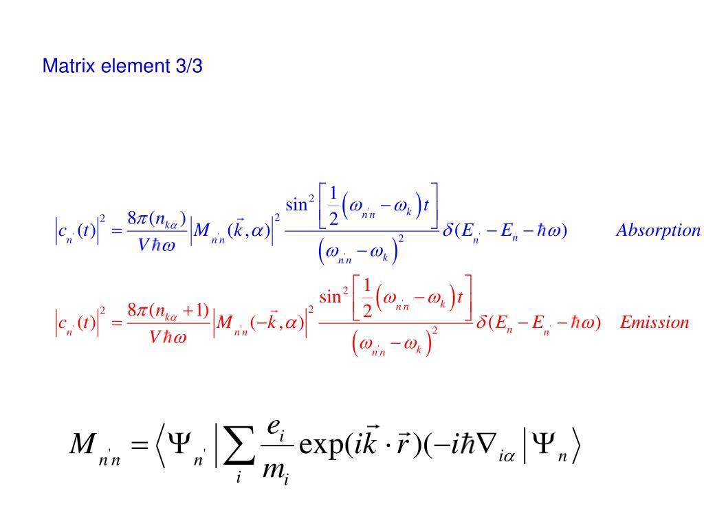 Matrix element 3/3