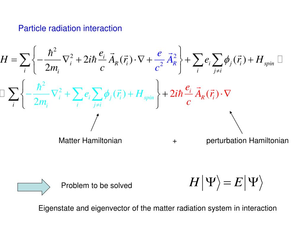Particle radiation interaction