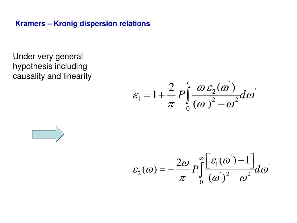 Kramers – Kronig dispersion relations