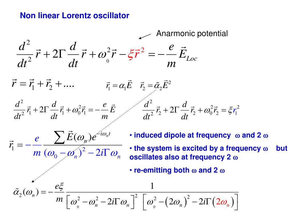 Non linear Lorentz oscillator