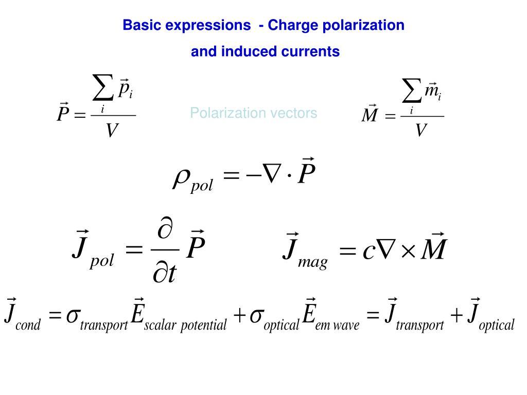 Basic expressions  - Charge polarization
