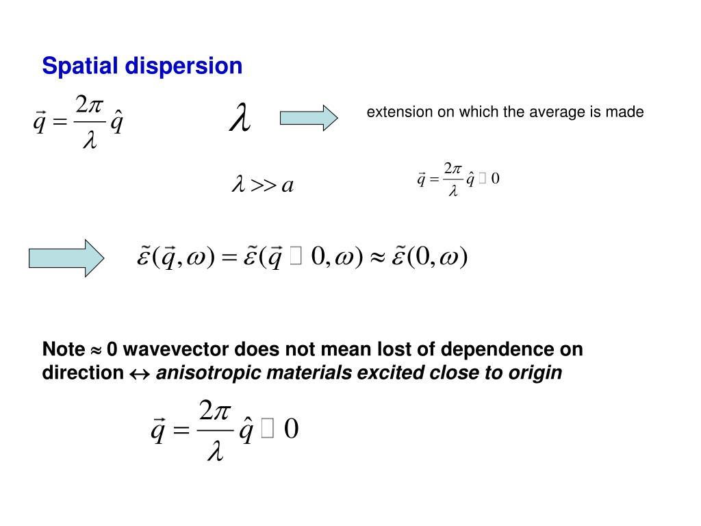 Spatial dispersion