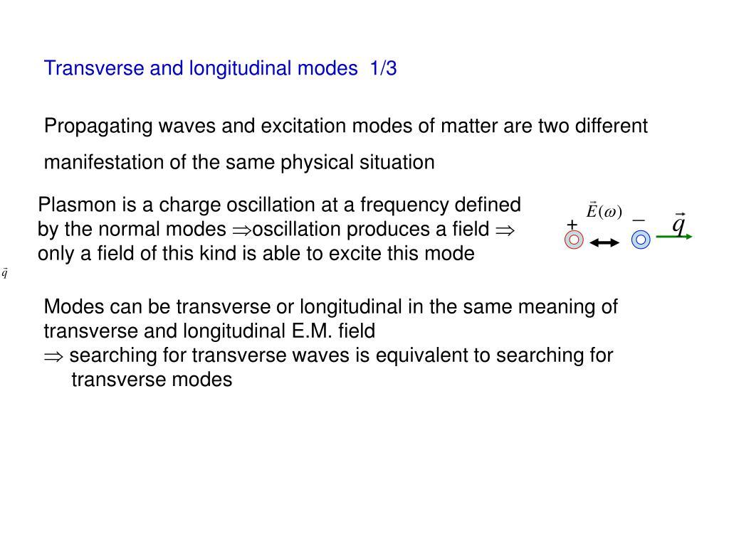 Transverse and longitudinal modes  1/3