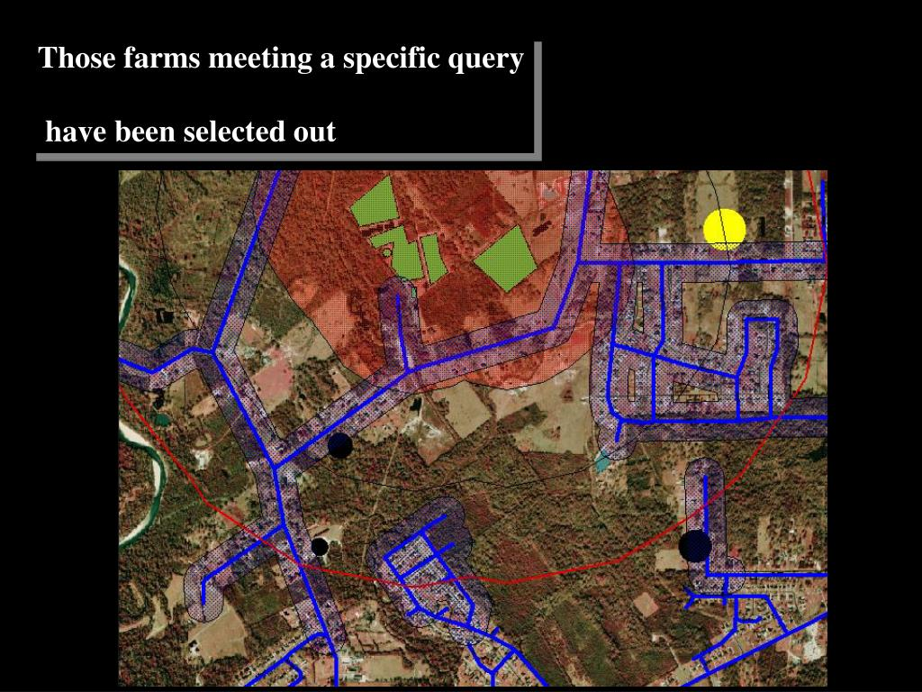 Those farms meeting a specific query