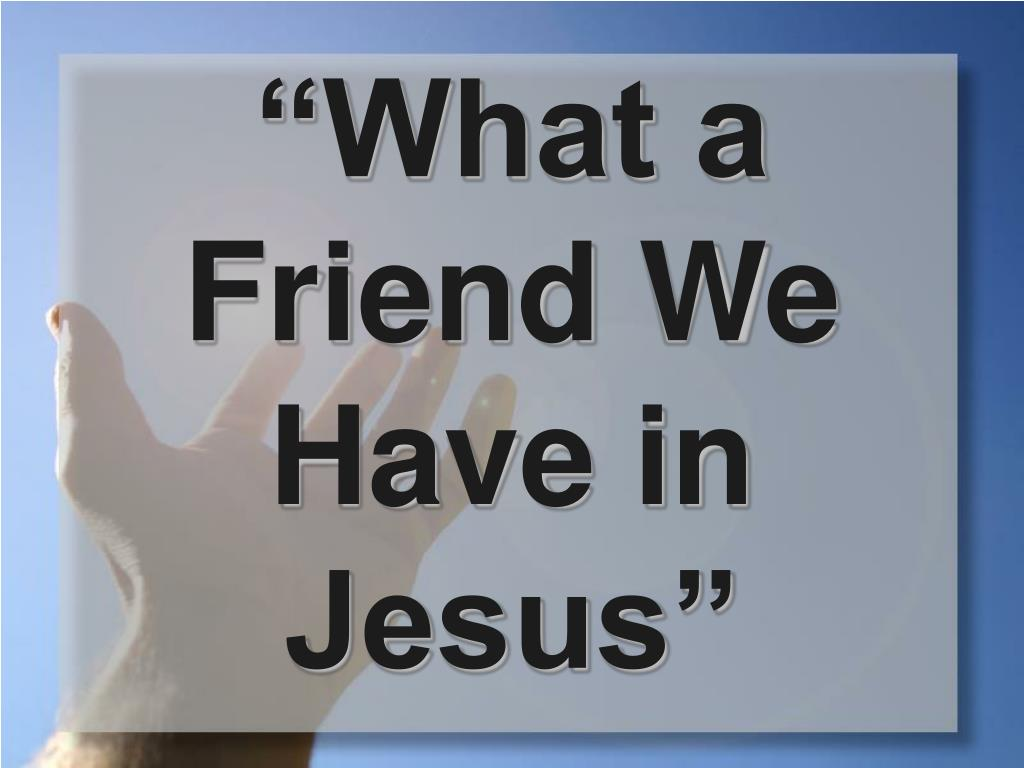 what a friend we have in jesus pdf