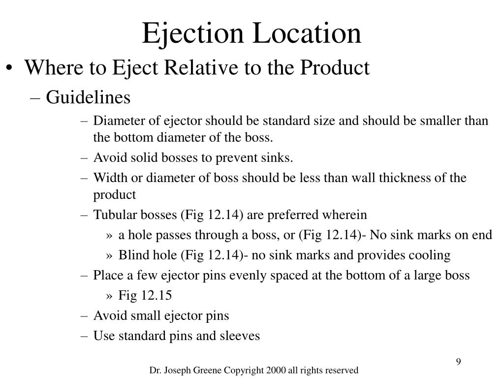 Ejection Location