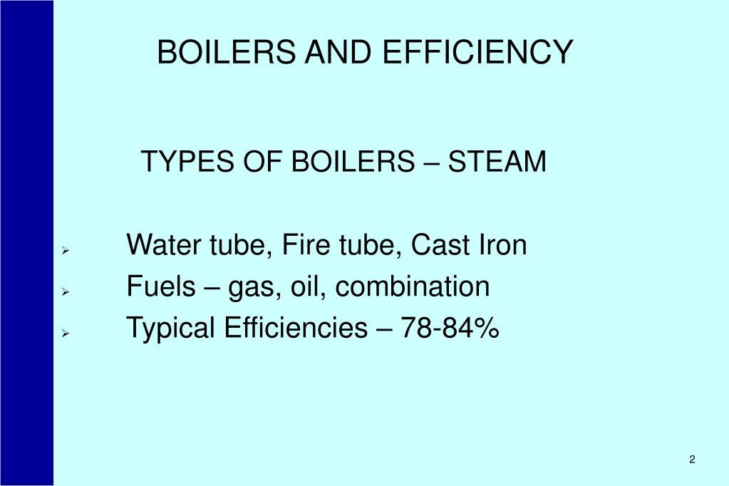 BOILERS AND EFFICIENCY