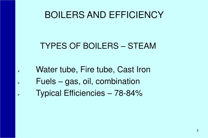 Boilers and efficiency2