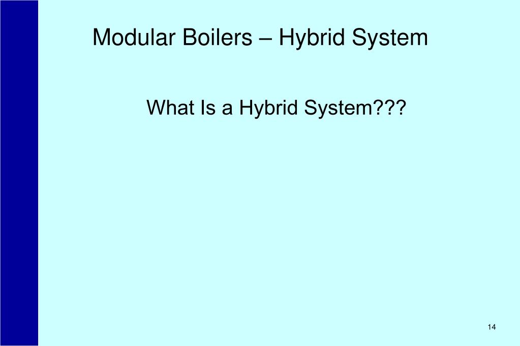 Modular Boilers – Hybrid System