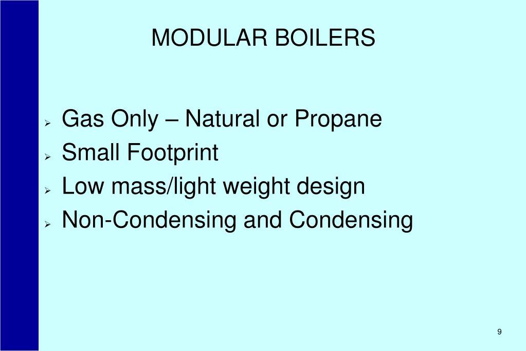 MODULAR BOILERS