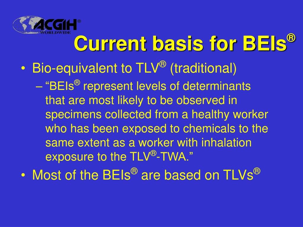 Current basis for BEIs