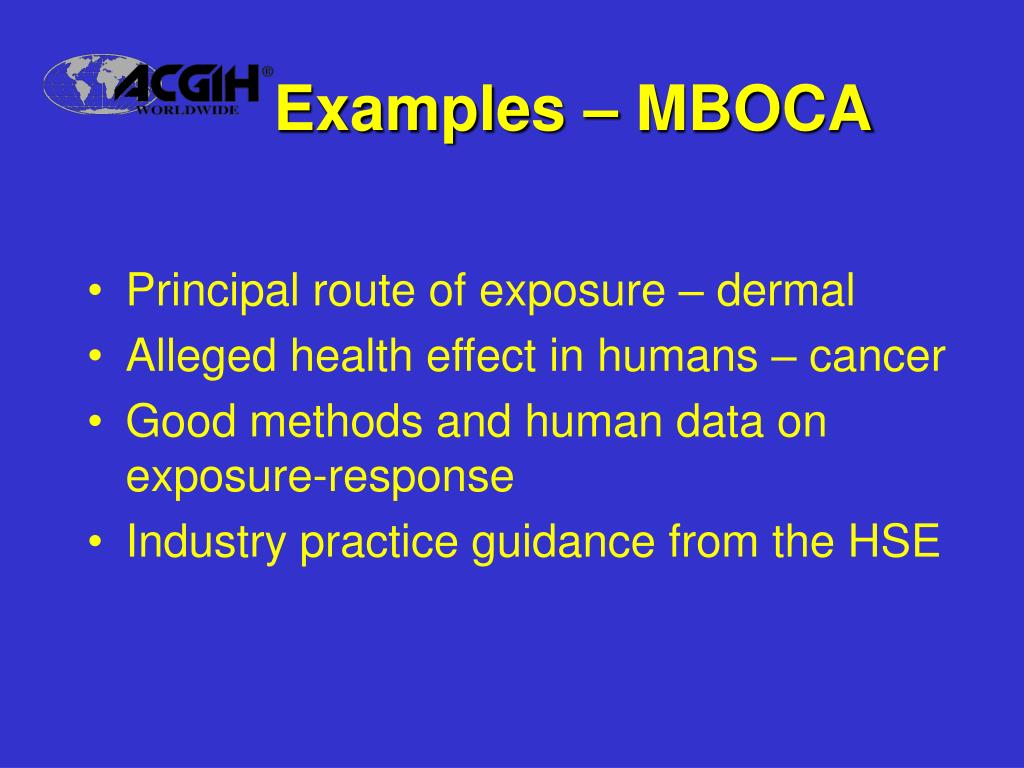 Examples – MBOCA