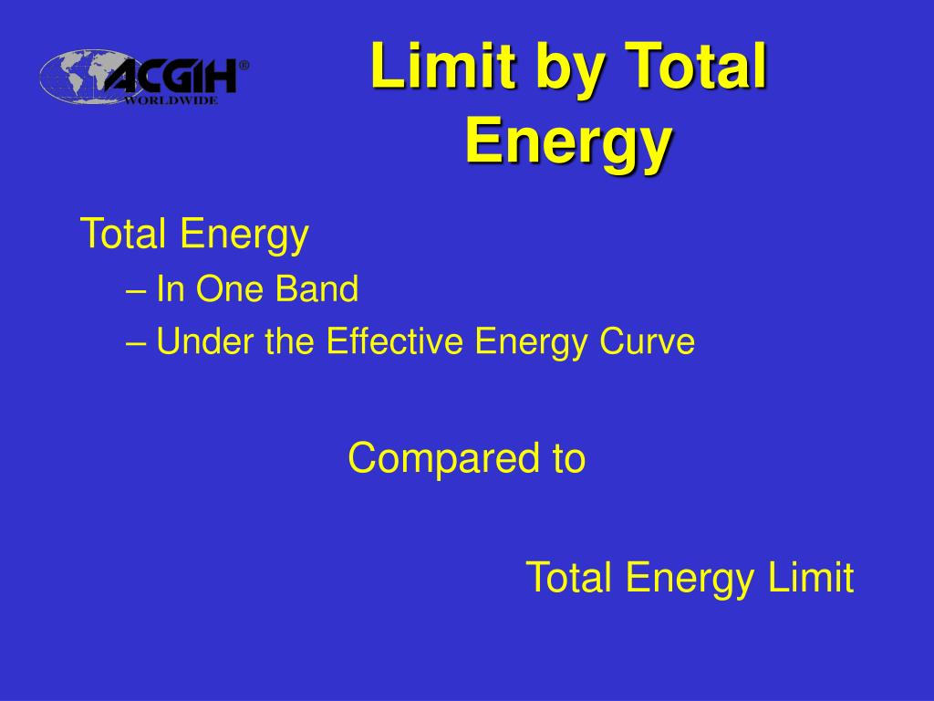 Limit by Total Energy