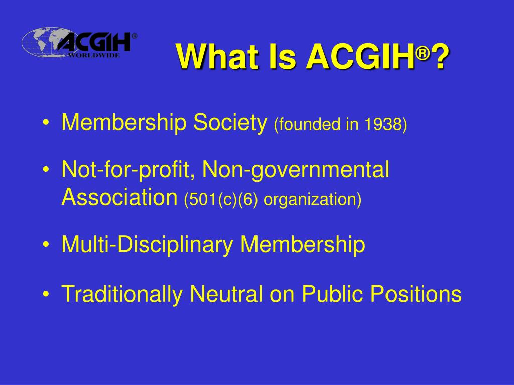 What Is ACGIH