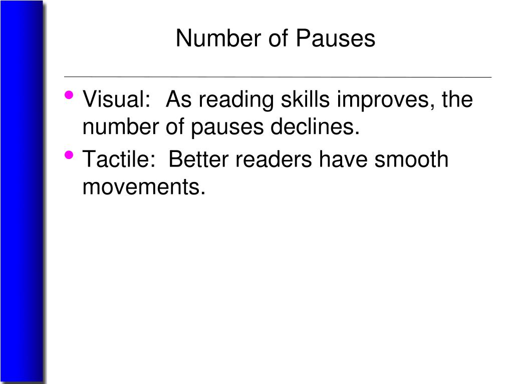 Number of Pauses