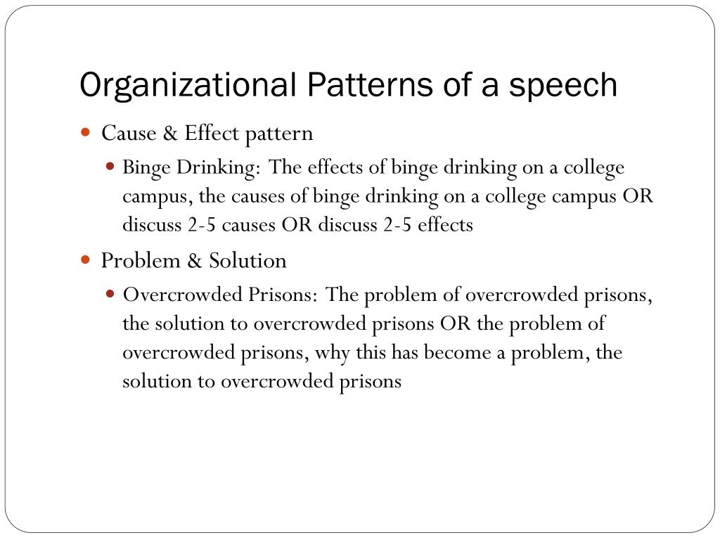Organizational Patterns of a speech