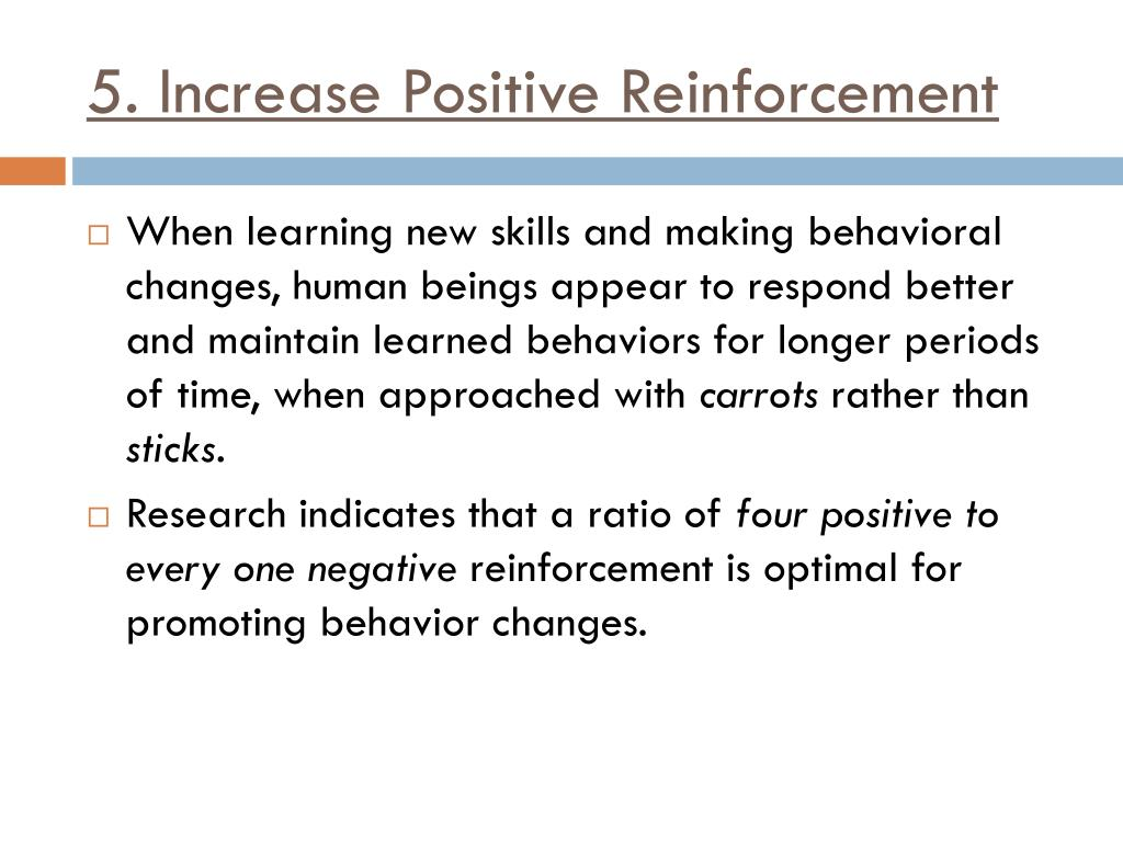 Positive Reinforcement: A Behavior-Management