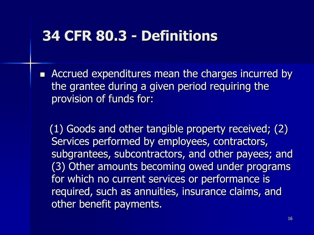 34 CFR 80.3 - Definitions