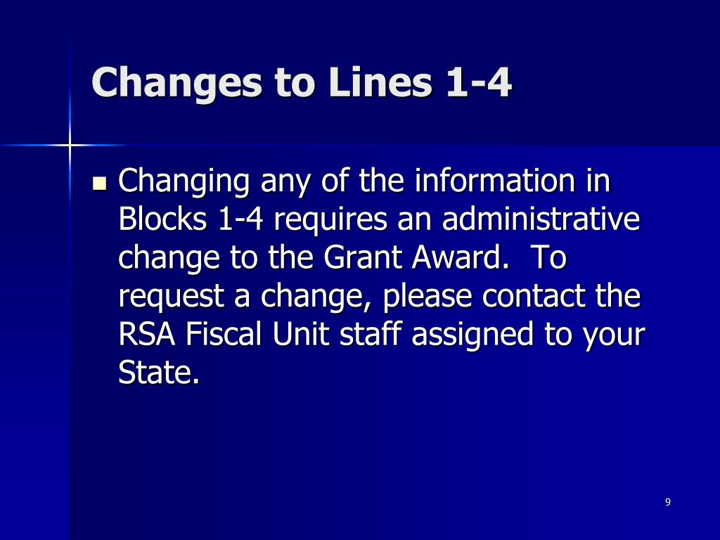 Changes to Lines 1-4